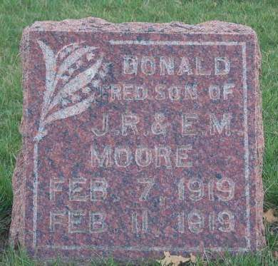 MOORE, DONALD FRED - Madison County, Iowa | DONALD FRED MOORE