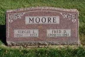 MOORE, VIRGIE LUCILLE - Madison County, Iowa | VIRGIE LUCILLE MOORE