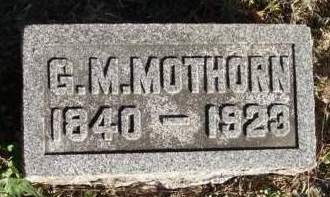 MOTHORN, GILES M. - Madison County, Iowa | GILES M. MOTHORN