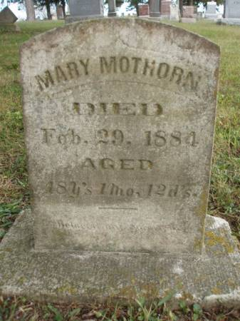 MOTHORN, MARY - Madison County, Iowa | MARY MOTHORN