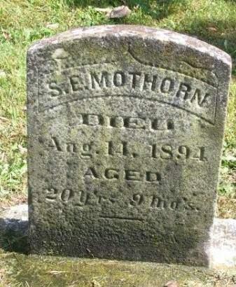 MOTHORN, SMITH EDWARD - Madison County, Iowa   SMITH EDWARD MOTHORN