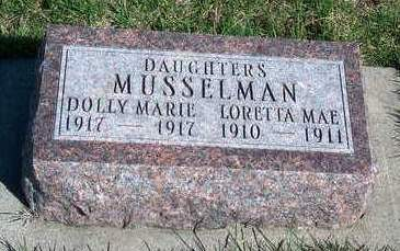 MUSSELMAN, DOLLIE MARIE - Madison County, Iowa | DOLLIE MARIE MUSSELMAN