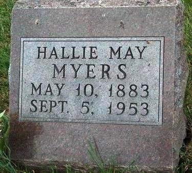 MYERS, HALLIE MAY - Madison County, Iowa | HALLIE MAY MYERS