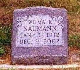 NAUMANN, WILMA KATHERINE - Madison County, Iowa | WILMA KATHERINE NAUMANN