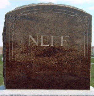 NEFF, FAMILY STONE - Madison County, Iowa | FAMILY STONE NEFF