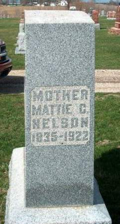 NELSON, MATTIE C. (MARTHA CHRISTINA) - Madison County, Iowa | MATTIE C. (MARTHA CHRISTINA) NELSON