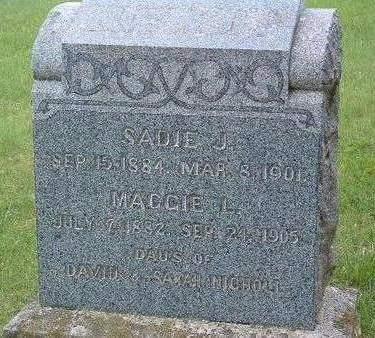 NICHOLL, MAGGIE L. - Madison County, Iowa | MAGGIE L. NICHOLL