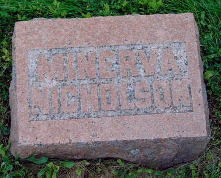 NICHOLSON, MINERVA - Madison County, Iowa | MINERVA NICHOLSON