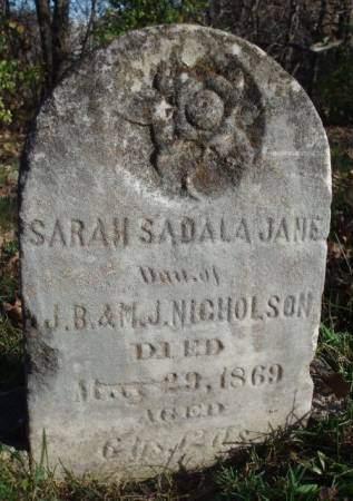 NICHOLSON, SARAH SADALA JANE - Madison County, Iowa | SARAH SADALA JANE NICHOLSON