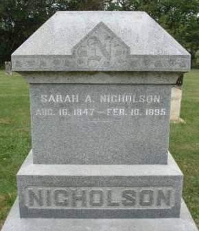 NICHOLSON, SARAH A. - Madison County, Iowa | SARAH A. NICHOLSON