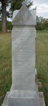 NICKLE, ROBERT CALVARY - Madison County, Iowa | ROBERT CALVARY NICKLE