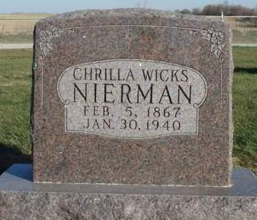NIERMAN, CHRILLA - Madison County, Iowa | CHRILLA NIERMAN