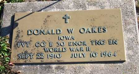 OAKES, DONALD W. - Madison County, Iowa | DONALD W. OAKES