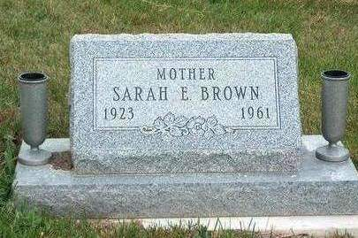 OVERTURF BROWN, SARAH ELISABETH - Madison County, Iowa | SARAH ELISABETH OVERTURF BROWN