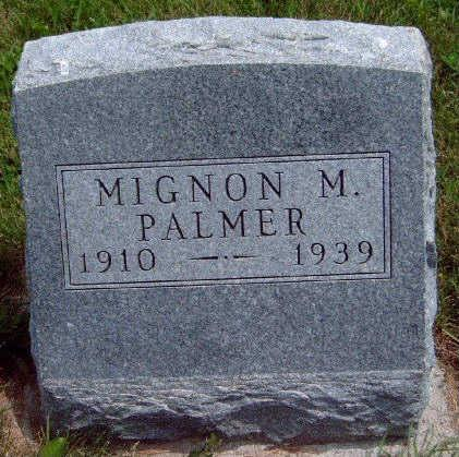 PALMER, MIGNON MABEL - Madison County, Iowa | MIGNON MABEL PALMER