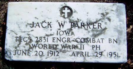 PARKER, JOHN WILLIAM (JACK) - Madison County, Iowa | JOHN WILLIAM (JACK) PARKER