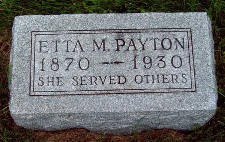 PAYTON, ETTA M. - Madison County, Iowa | ETTA M. PAYTON
