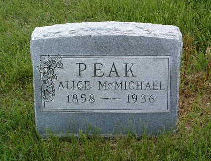 PEAK, SARAH ALICE - Madison County, Iowa | SARAH ALICE PEAK