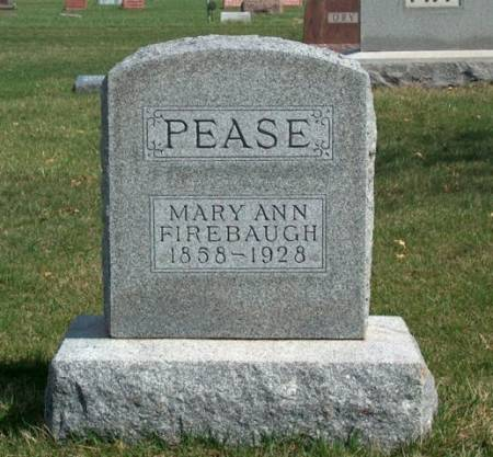 PEASE, MARY ANN - Madison County, Iowa | MARY ANN PEASE
