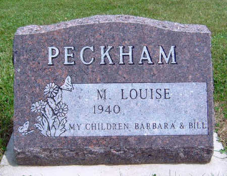 PECKHAM, M.  LOUISE - Madison County, Iowa | M.  LOUISE PECKHAM