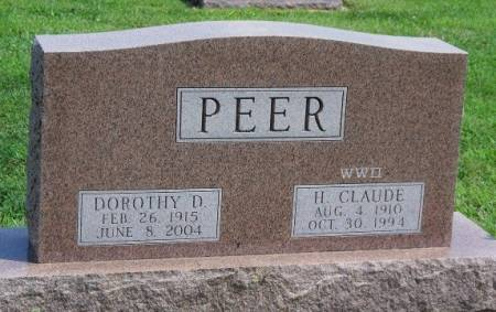 PEER, DOROTHY DARLENE - Madison County, Iowa | DOROTHY DARLENE PEER
