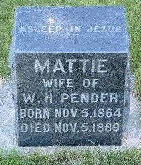 PENDER, MATTIE - Madison County, Iowa | MATTIE PENDER