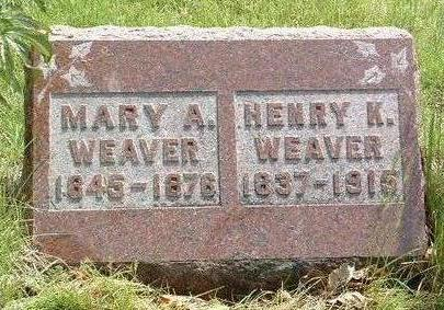 PERSINGER WEAVER, MARY A. - Madison County, Iowa | MARY A. PERSINGER WEAVER