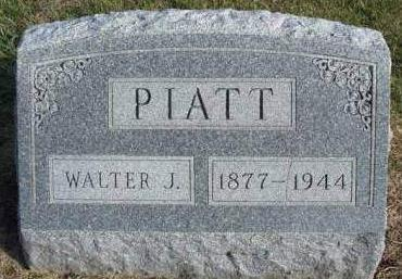PIATT, WALTER JACOB - Madison County, Iowa | WALTER JACOB PIATT