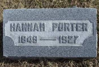PORTER, HANNAH JANE - Madison County, Iowa | HANNAH JANE PORTER