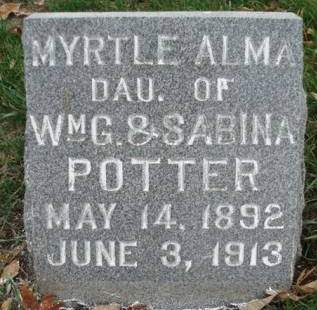POTTER, MYRTLE ALMA - Madison County, Iowa | MYRTLE ALMA POTTER