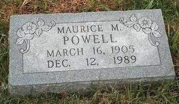 POWELL, MAURICE MARSHAL - Madison County, Iowa | MAURICE MARSHAL POWELL