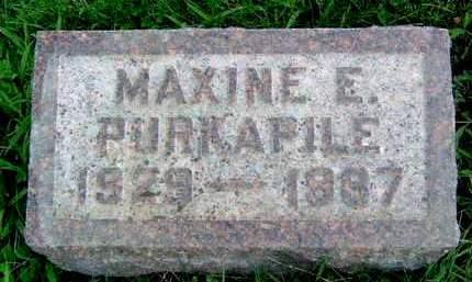PURKAPILE, MAXINE E. - Madison County, Iowa | MAXINE E. PURKAPILE