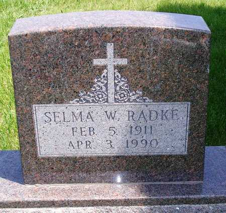 RADKE, SELMA WILHELMINA - Madison County, Iowa | SELMA WILHELMINA RADKE