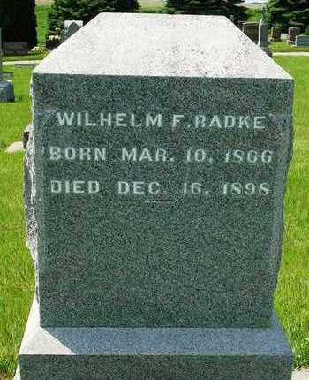 RADKE, WILHELM F. - Madison County, Iowa | WILHELM F. RADKE