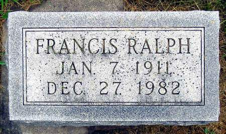 RALPH, FRANCIS - Madison County, Iowa | FRANCIS RALPH