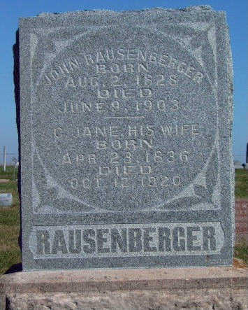 MOORE RAUSENBERGER, CATHERINE JANE - Madison County, Iowa | CATHERINE JANE MOORE RAUSENBERGER