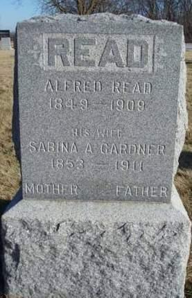 GARDNER READ, SABINA ANN - Madison County, Iowa | SABINA ANN GARDNER READ