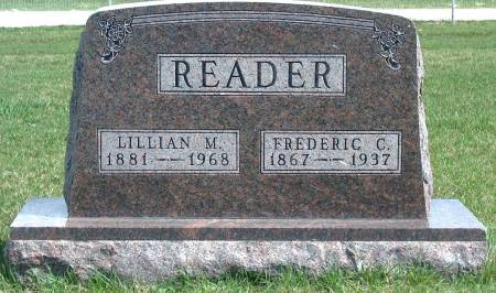 READER, FREDERIC CHARLES - Madison County, Iowa | FREDERIC CHARLES READER