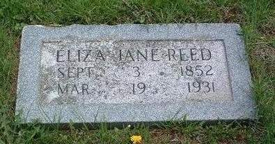 PHIPPS REED, ELIZA JANE - Madison County, Iowa | ELIZA JANE PHIPPS REED