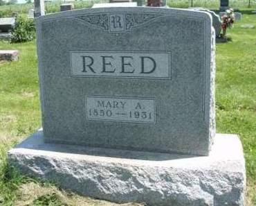 REED, MARY A. - Madison County, Iowa   MARY A. REED