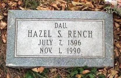 RENCH, HAZEL SYLVIA - Madison County, Iowa   HAZEL SYLVIA RENCH