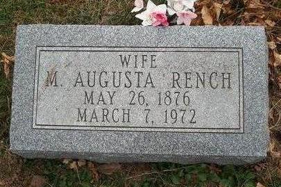RENCH, MARY AUGUSTA - Madison County, Iowa | MARY AUGUSTA RENCH
