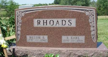 RHOADS, BESSIE EVELYN - Madison County, Iowa | BESSIE EVELYN RHOADS