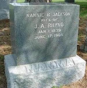 JACKSON RHYNO, NANCY BELLE (NANNIE) - Madison County, Iowa | NANCY BELLE (NANNIE) JACKSON RHYNO