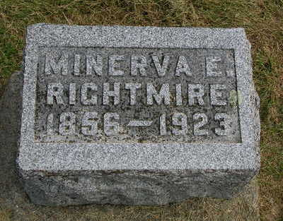 RIGHTMIRE, MINERVA E. - Madison County, Iowa | MINERVA E. RIGHTMIRE