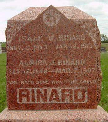 RINARD, ALMIRA JANE - Madison County, Iowa | ALMIRA JANE RINARD