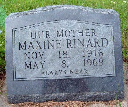 RINARD, MARY MAXINE - Madison County, Iowa | MARY MAXINE RINARD