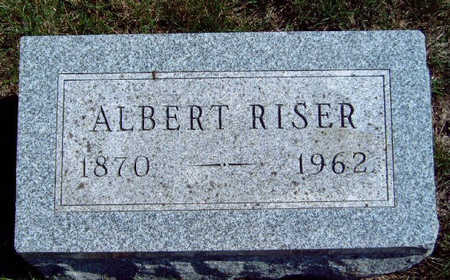 RISER, ALBERT - Madison County, Iowa | ALBERT RISER