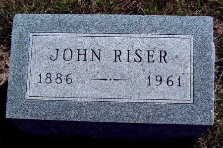 RISER, JOHN - Madison County, Iowa | JOHN RISER