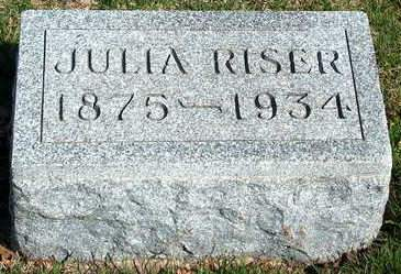 RISER, JULIA - Madison County, Iowa | JULIA RISER